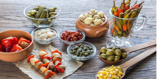 Encurtido: el aperitivo saludable
